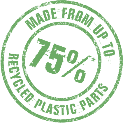 75 percent recycled logo